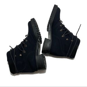 Stuart Weitzman Combat Gore-Tex Black Boots Size 8